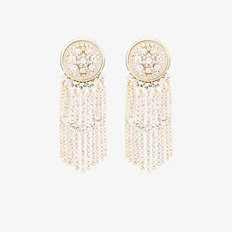 Alessandra Rich Gold-Tone Crystal Drop Earrings
