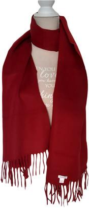 Max Mara Burgundy Wool Scarves