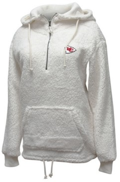 5th & Ocean Women's Kansas City Chiefs Sherpa Quarter-Zip Pullover