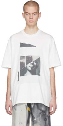 Song For The Mute White Oversized Portrait T-Shirt
