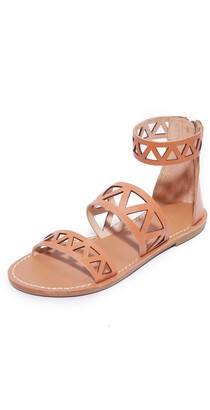 Soludos Women's Geo Laser Cut Band Sandal Flat