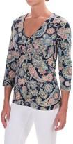 Caribbean Joe Paisley Festival Shirt - 3/4 Sleeve (For Women)