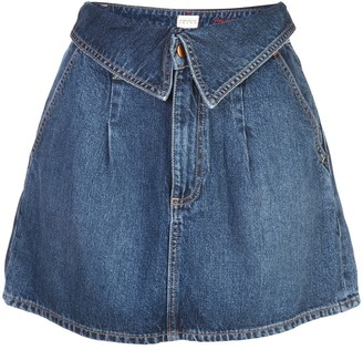 Alice + Olivia Foldover Waist Denim Skirt