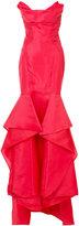Monique Lhuillier ruffled gown