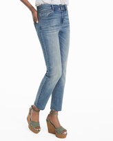 White House Black Market High-Rise Straight Crop Jeans in Medium Wash