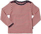 Jo-Jo JoJo Maman Bebe Stripe Top (Toddler/Kid) - Red/Cream Stripe-3-4 Years