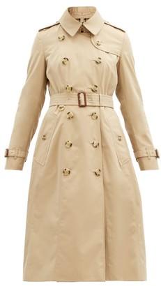 Burberry Chelsea Long Cotton-gabardine Trench Coat - Beige