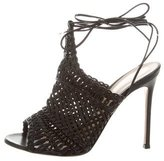 Gianvito Rossi Leather Woven Sandals w/ Tags