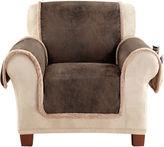 Sure Fit Vintage Faux-Leather Reversible Pet-Friendly Chair Slipcover
