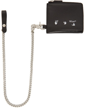 Off-White Black Logo Chain Wallet