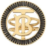 Burberry monogram motif crystal-embellished ring