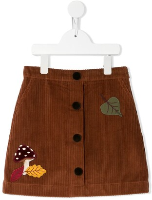 Dolce & Gabbana Kids Patch-Detail Corduroy Skirt