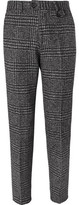Oliver Spencer Fishtail Houndstooth Wool Trousers - Charcoal