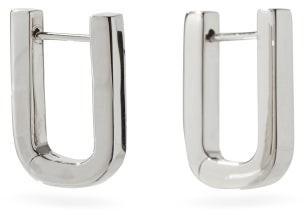 Otiumberg Square Sterling-silver Hoop Earrings - Silver