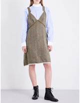 R 13 Checked wool and cotton dress