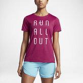 "Nike Dry ""Run All Out"" Women's Running T-Shirt"