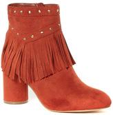 Tu clothing Orange Fringe and Stud Boots