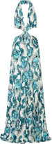 Just Cavalli Cutout printed stretch-jersey gown
