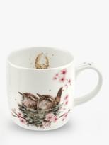 Wrendale Designs Wrens Nest Mug, 310ml, White/Multi