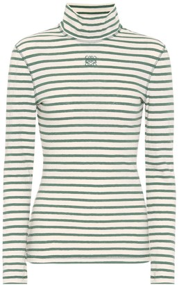 Loewe Striped cotton-jersey top