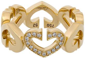 Cartier Estate Estate 18K Yellow Gold Diamond C-Heart Ring, Size 6