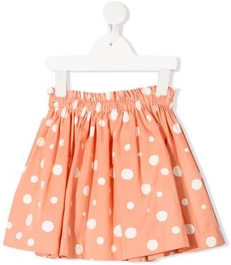 Knot Polka Dot Print Skirt