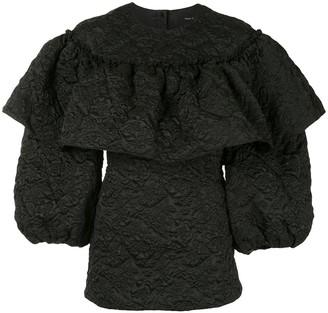 Simone Rocha Textured Ruffle-Detail Blouse