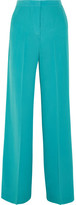 Etro Silk Crepe De Chine Wide-leg Pants - Blue