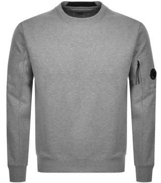 C.P. Company C P Company Crew Neck Goggle Sweatshirt Grey