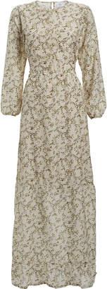 SIR the Label Annalie Floral Cut-Out Midi Dress