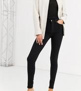 Topshop Tall Jamie skinny jeans in black