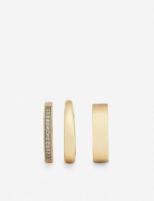 Kendra Scott Tate 14ct gold-plated brass ring set