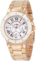 A Line A_Line Women's 20107DV Marina Chronograph White Textured Dial Rose Watch