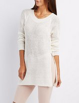 Charlotte Russe Scoop Neck Open Back Sweater