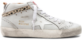 Golden Goose Deluxe Brand Leather Mid Star Sneakers With Cow Hair