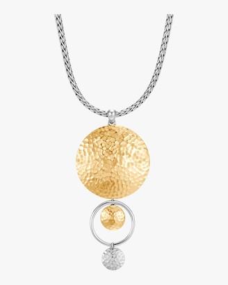 John Hardy Dot Hammered Drop Pendant Necklace