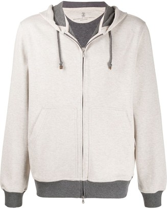Brunello Cucinelli Relaxed-Fit Contrasting-Hem Hoodie