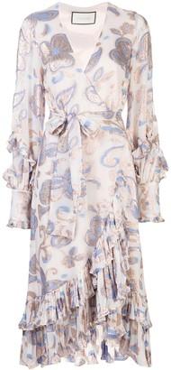 Alexis Abessa paisley midi dress
