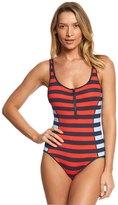 Tommy Hilfiger Indy Stripe Scoop Neck One Piece Swimsuit 8154029