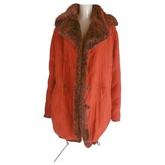 Issey Miyake Orange Faux fur Coats