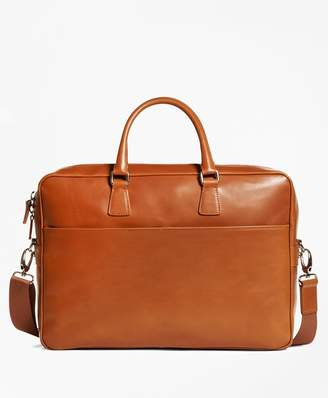 Brooks Brothers Vegetable Tan Leather Briefcase