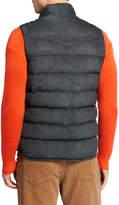 Neiman Marcus Men's Water-Repellant Suede Padded Vest
