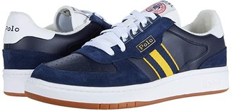 Polo Ralph Lauren Polo Court (Newport Navy/Gold Bugle/White) Men's Shoes