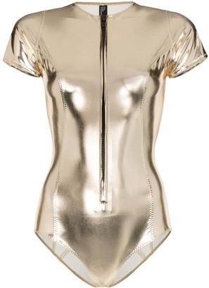 Lisa Marie Fernandez Farrah PVC maillot swimsuit