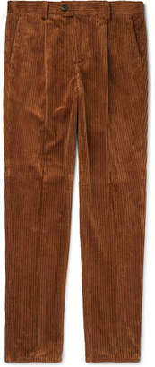 Brunello Cucinelli Pleated Cotton-Corduroy Trousers