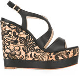 Paloma Barceló floral wedge sandals