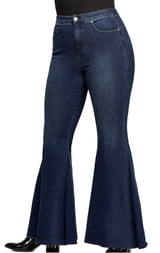 Free People CRVY by Ma Cherie High Waist Flare Jeans