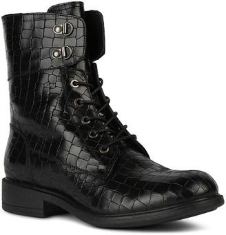 Geox Catria 4 Mock-Croc Napa Combat Boots