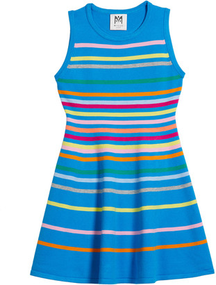 Milly Girl's Rainbow Striped Sleeveless Knit Dress, Size 7-16