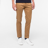 Paul Smith Men's Slim-Fit Tan Pima-Cotton Stretch Five-Pocket Trousers